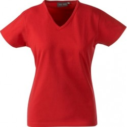 MacOne dame t-shirts, v-hals, 200g     5024014A61