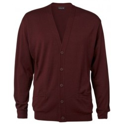 Men's cardigan-Regular Fit-Bordeaux