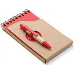 Notesbog med kuglepen, 132x75x8mm