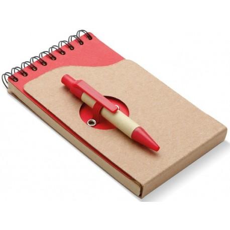 Notesbog m/kuglepen, 132x75x8mm