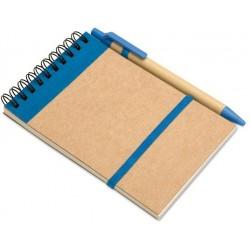 Notesbog m/kuglepen, 140x90x7mm