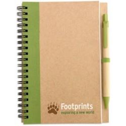 Notesbog med kuglepen, 180x130x7mm
