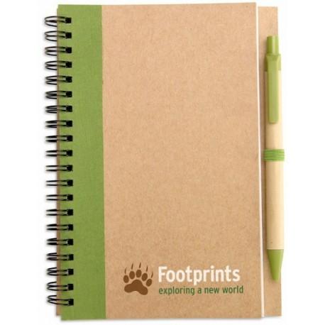 Notesbog m/kuglepen, 180x130x7mm