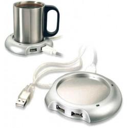 USB hub 2.0 med kaffevarmer og 4 porte