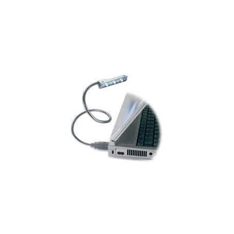 USB lampe med 3 hvide lamper