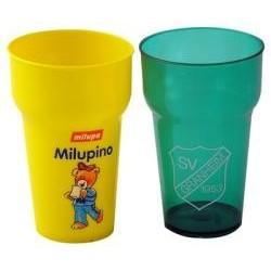 Stabelbare brudsikre kunststof glas, 0,2 ltr,   6500a37