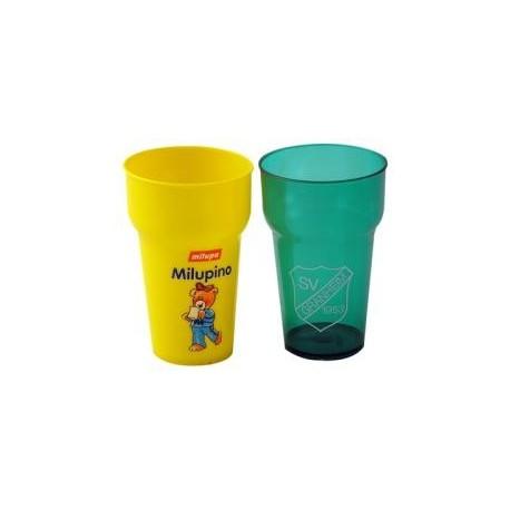Stabelbare brudsikre kunststof glas, 0,2 ltr,
