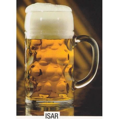 Glas ølkrus, 1 ltr