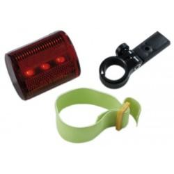 Refleks med rødt lys med clip.