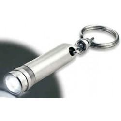 Lampe med hvidt LED lys og nøglering.