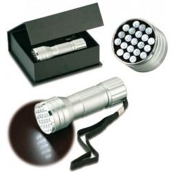 Aluminium LED Lommelampe med 21 dioder