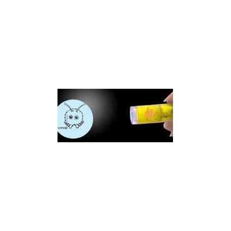 Lampe hvor logo vises i lyskeglen