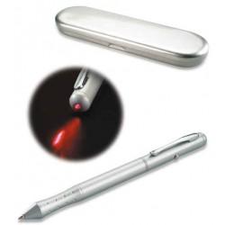 Metal kuglepen med laserpointer.