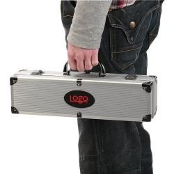 Grill tilbehør stål i aluminium kuffert