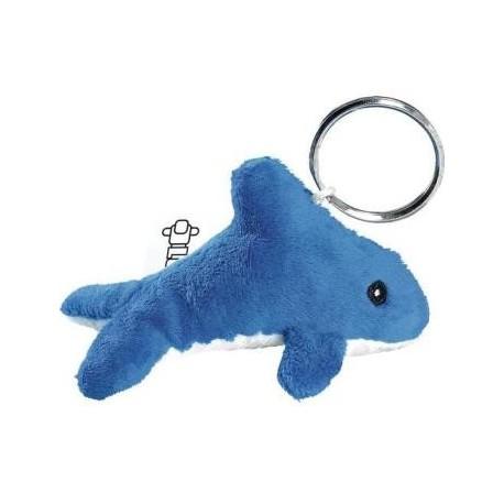 Plys nøglevedhæng udformet som delfin
