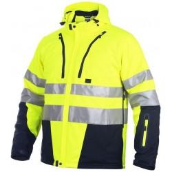 Foret jakke ISO 20471 klasse 2/3. Vind- og vandafvisende