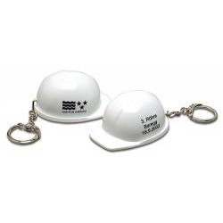 Nøglevedhæng udformet som en sikkerhedshjelm
