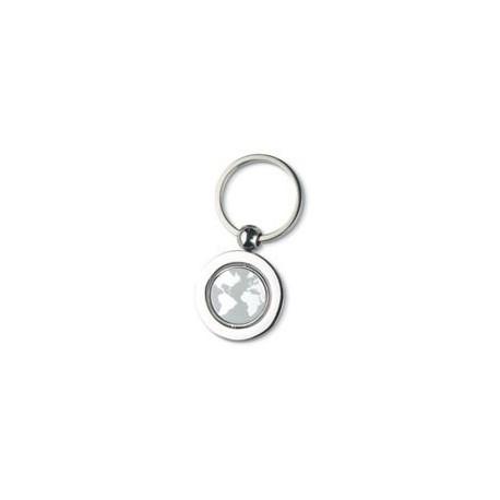 Metal nøglevedhæng med globus