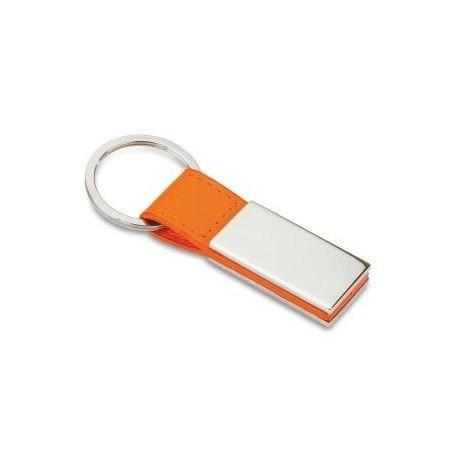 Kunststof nøglevedhæng med metalplade
