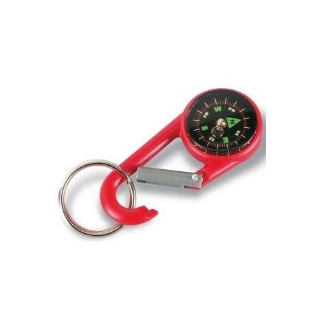 Karabinhage med kompas og nøglering