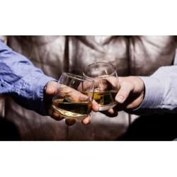 Whiskyglas og granitsten