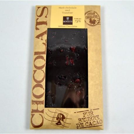 Bovetti mørk chokolade m/ tranebær 100g