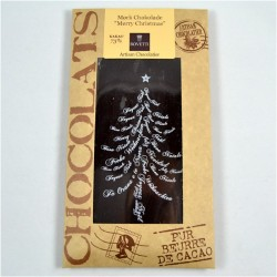 "Bovetti mørk chokolade ""merry christmas"" 100g"