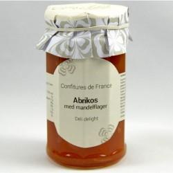 Fransk abrikos syltetøj med mandelflager 270g.       5600004A28