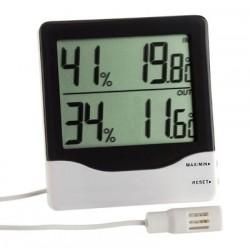 Elektronisk termometer og hygrometer