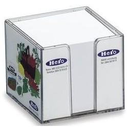 Bordstandere med papir 105x105x90mm