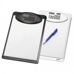 Clipboard med regnemaskine og lineal