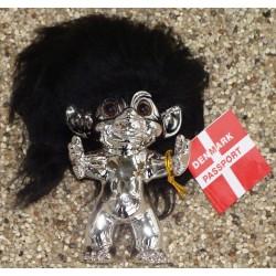Lykketrolde 9cm metal m/sort hår