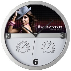 Vægure med hygrometer og termometer