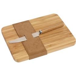 Skærebrætter, bambus incl kniv 20x15x1,2 cm.