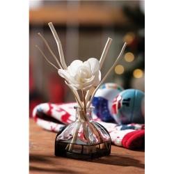 Aroma duftolie, vaser med blomst. str. 10x7x25cm. (Klistermærke 8x3cm)