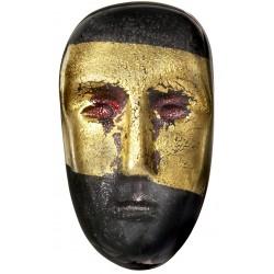 Kosta Boda. Brains masker. Oden. H 7,5 cm.  Design Bertil Vallien.