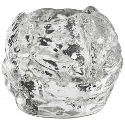 Kosta Boda Snowball fyrfadsstager.9xø10,5 cm. Design Ann Wolff.