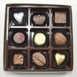 Dessertchokolader belgiske, 117g, 9stk