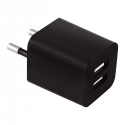 Mobil oplader til stikkontakt. 2 USB udgange    209A04
