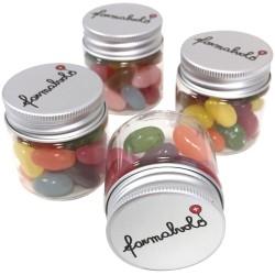 Beholdere med Jelly beans 42mm Ø x 45mm, ca 40g