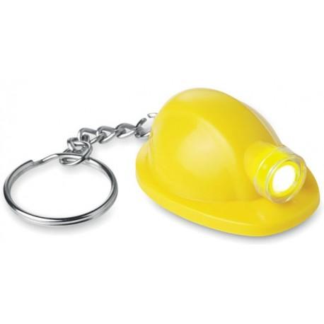 Nøglevedhæng udformet som sikkerhedsvest. Fluoreserende