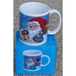 Porcelænkrus med julemotiv
