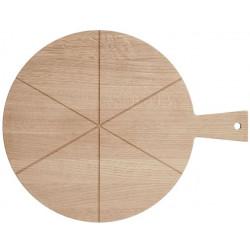 Pizza bræt, lille 28cm Ø  egetræ          123020A399