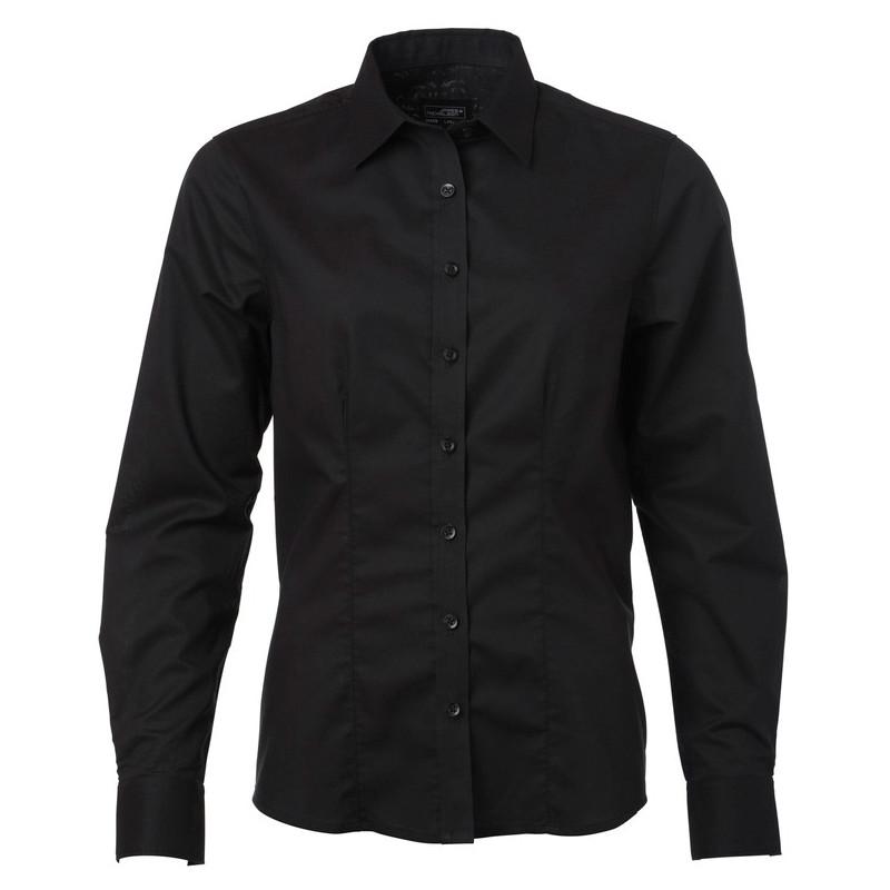 cbe104f5 Oxford dameskjorter med logo tryk - James & Nicholson skjorter