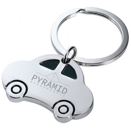 Metal nøglering med bil