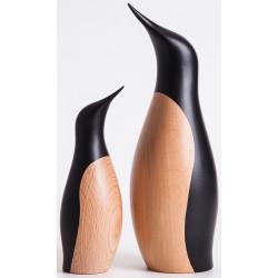 Penguin håndmalet bøgetræ 18cm  800A172