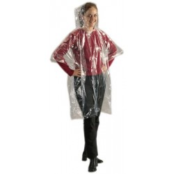 regnfrakke i plastpose,