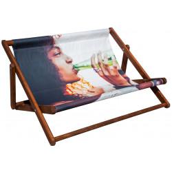 Dobbelte strandstole med Jeres reklame  stol03a276