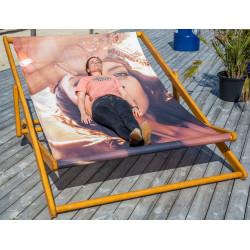 Kæmpe liggestole med Jeres reklame   stol04a276