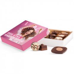 Dessertchokolader i gaveæske 10x10x2,5cm,   Lindta89